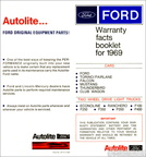 1969 Ford Warranty Facts booklet