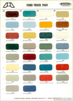 1969 Ford Truck paint chip sheet - Big A / Rogers