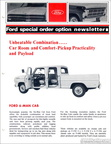 1969 Ford Special Order Option Newsletter - Ford 6-man Cab (Crewcab)