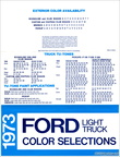 1973 Ford Light Truck Color Selections pamphlet